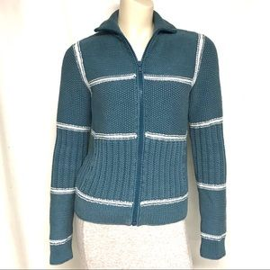 Marc Jacobs blue and white Cardi-coat